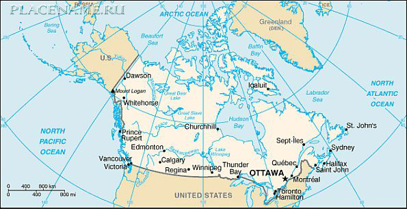 Страны канада